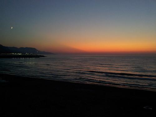 És itt a Fekete-tenger. És még félholdunk is van. :)