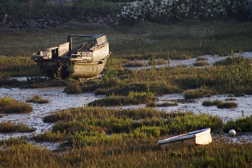Ruined boat, evening
