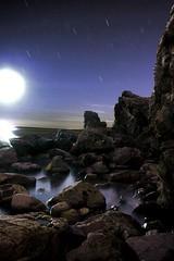 Moonset~Malaga Cove (Lori_Bucci_Photography) Tags: ocean california longexposure sunset sea moon seascape beach night stars landscape la losangeles rocks pacific fullmoon moonlight surfers southerncalifornia southbay palosverdes loribucciphotography loribucci lorilockhartbucci
