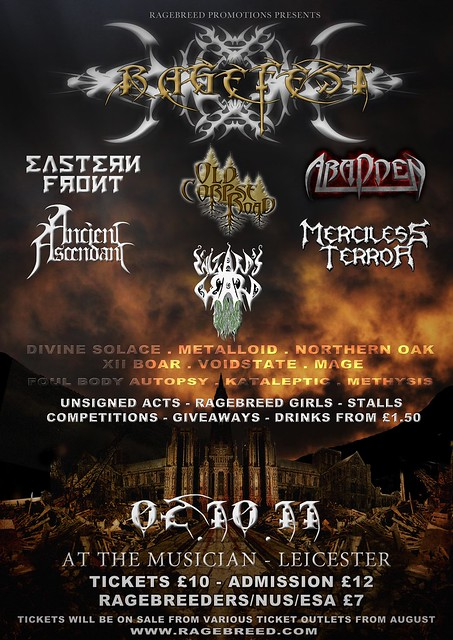 Ragefest 2011 gig listings