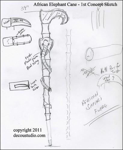 Elephant Cane sketch 1 2159