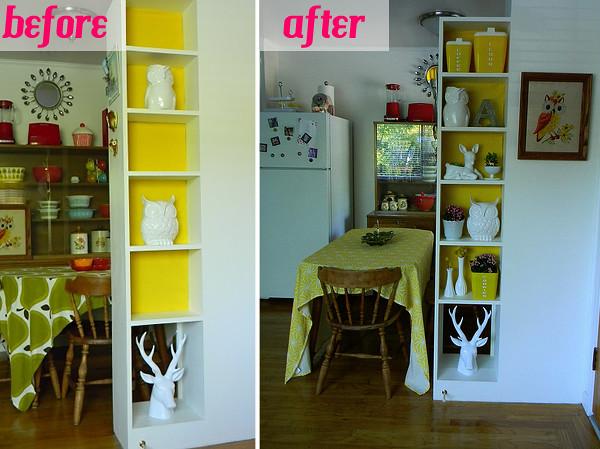 before & after bookshelf