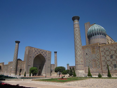 The registan, Samarkand.
