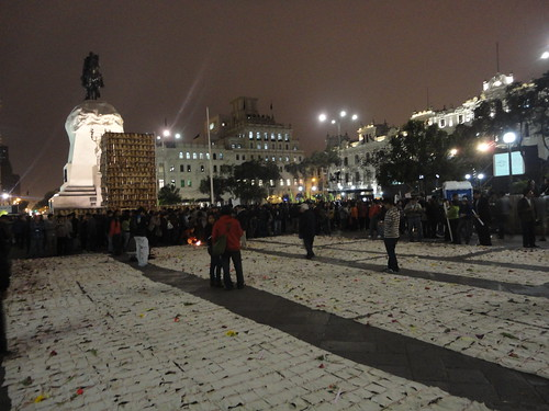 'Carpet' of the Disappeared at Lima's Plaza San Martin