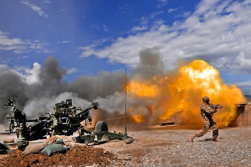 Howitzer blast