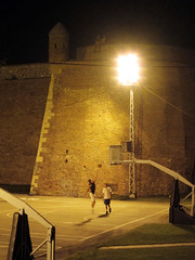 Serbia (Chasing Donguri) Tags: playing castle sports basketball wall night lights europe sitting serbia belgrade top10 img1811 jphoto