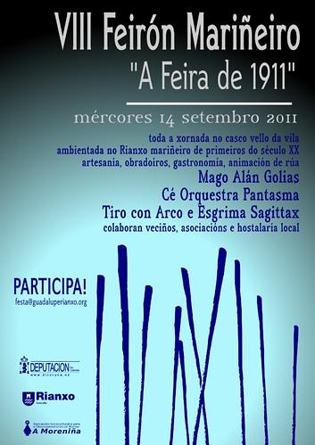 Rianxo 2011 - Festas da Guadalupe - Feirón Mariñeiro - cartel
