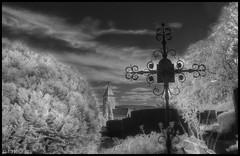 Cemetery Nabburg II (P.Hcherl) Tags: friedhof cemetery graveyard germany ir bayern deutschland bavaria niceshot sony infrared churchyard alpha a100 oberpfalz nabburg infrarot 2011 upperpalatinate mygearandme ringexcellence