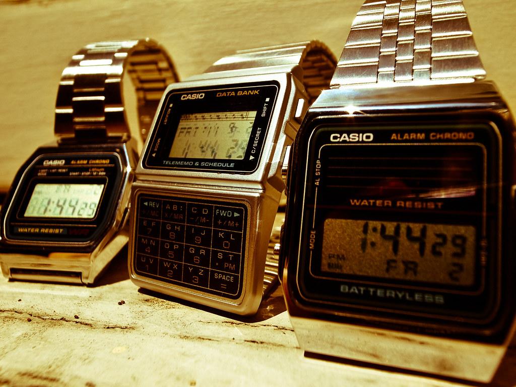 80s casio digital watches - modern vintage
