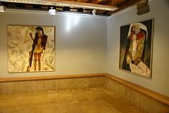 Exposición en Lobiano de los cuadros del pintor asturiano Máximo Aláez