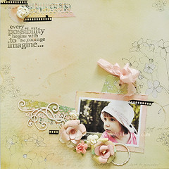 Imagine (Makowe Pole) Tags: roses rose vintage scrapbooking paper layout lo retro scrap makowepole makowepoleeu