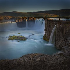 Iceland | Godafoss #1 (get t android) Tags: world travel sunset vacation inspiration color nature water beautiful landscape waterfall iceland rocks long exposure colours live group inspired we choice simply hdr deepavali the godafoss in redmatrix onlythebestofnature