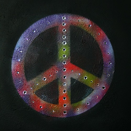 "Peace Sign Wall Canvas 24"" x 20"" by Rick Cheadle Art and Designs"