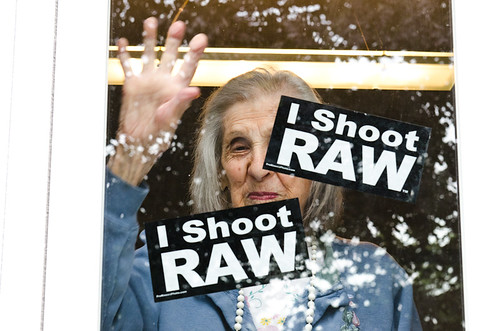 I Shoot RAW Window Clings