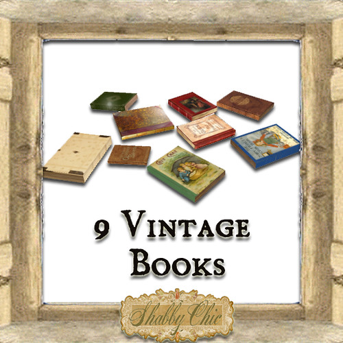 Shabby Chic Vintage Books by Shabby Chics