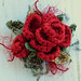 Crochet Boroch Red Rose Glitz