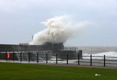 Huge waves at Harrington (elaineh601) Tags: sea storm west waves power wind katia hurricane wave blow cumbria winds seas howling howl harrington workington westcumbria hurricanekatia
