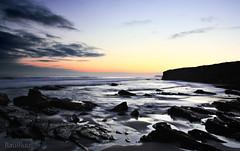 la calma regresa al campo de batalla  EXPLORE (RalRuiz) Tags: espaa contraluz mar galicia amanecer cielo nubes lugo rocas ribadeo cantbrico playadelascatedrales praiaascatedrais