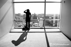 Vantage Point (Stan Olszewski) Tags: california woman building window girl look architecture person downtown view cityhall sanjose 1635ii canon7d soskiphoto
