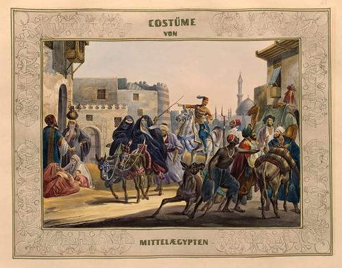 011-Vestimentas del Egipto Medio-Malerische Ansichten aus dem Orient-1839-1840- Heinrich von Mayr-© Bayerische Staatsbibliothek
