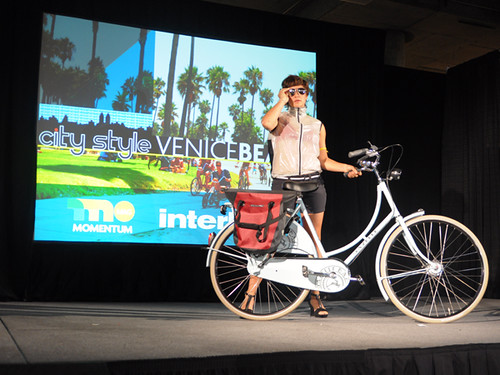 Interbike Fashion Show, Gazelle and Ortlieb