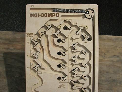 Digi-Comp II (wooden prototype)-- top section