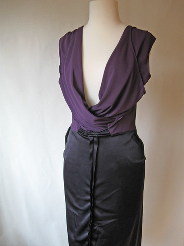 Purple knit Vogue inside out