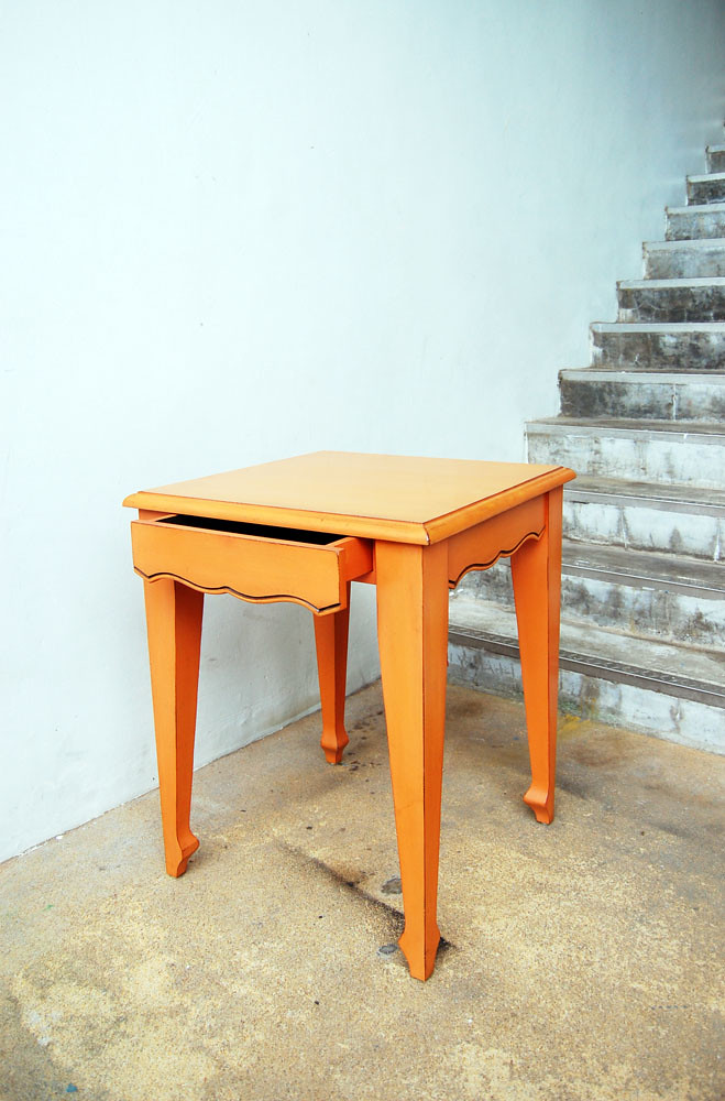 Orange Square Dining table