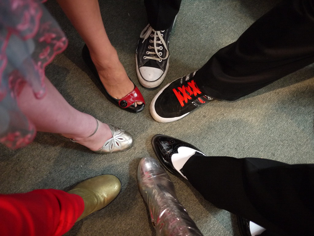 We all wore nice shoes for Grant