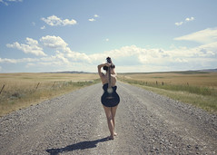 back drop (enjoythelittlethings) Tags: music woman girl fun back guitar curves dirtroad 365
