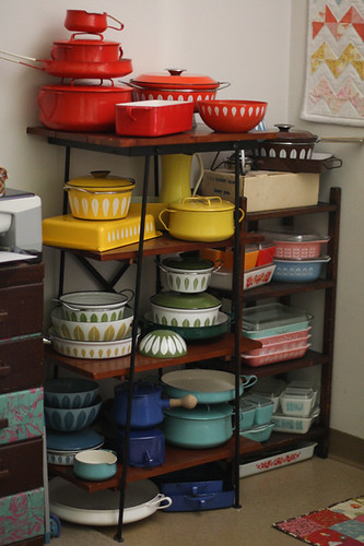Sewing Room - Rainbow of Enamelware by jenib320
