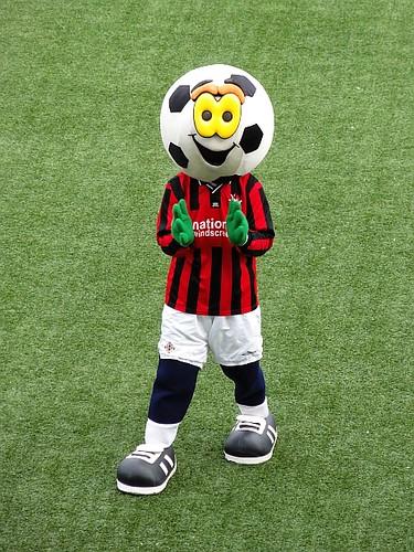 Football head mascot.