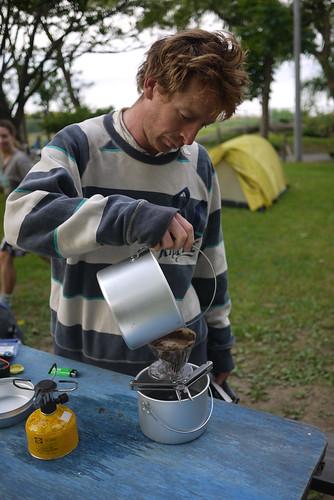 Camping at the Kamoenai Camping Ground on the Shakotan Peninsula, Hokkaido, Japan