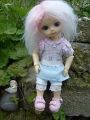 Yani (fairyina3) Tags: pink baby bird ball garden hair outside doll dress erin handmade clothes kawaii bjd rement jointed faceup bobobie