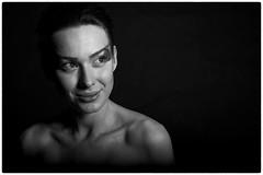 Spotlight (Ian_Boys) Tags: portrait bw nikon flash 85mm joanna softbox strobist d700
