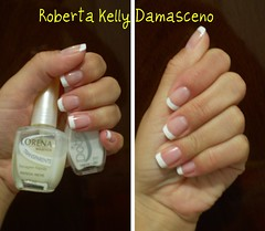 Francesinha (Roberta Kelly Damasceno) Tags: nails laguna lorena unha renda dote esmalte francesinha rendaneve