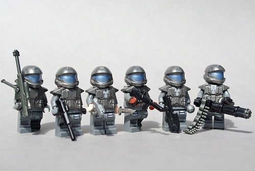 Custom minifig ODST Squad: 105th Shock Troops Division