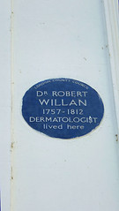 Photo of Robert Willan blue plaque