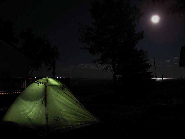 Camping at Pancake