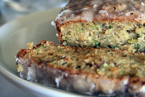 Zucchini Cake with Crunchy Lemon Glaze