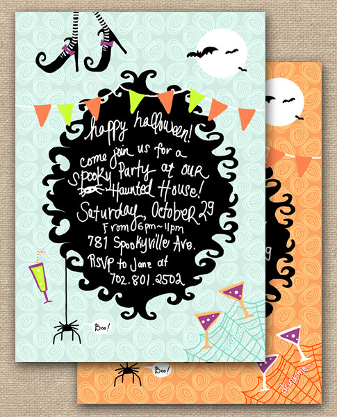Shop happy halloween invitation party design diy printables happy halloween invitelayout3 halloween party theme invitation happy halloween birthday invitations fun halloween bookmarktalkfo Images