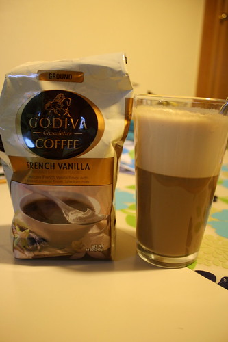 Godiva french vanilla coffee; smoothie