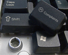 Complaints button (FindYourSearch) Tags: computer keyboard brokenbutton