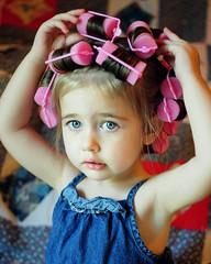 (J Waid) Tags: light portrait beauty project children photography eyes nikon eyelashes weeks 52 curlers 52weeks d5000