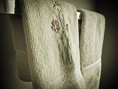Ordinary Bath Towels Window Light.12 (mcreedonmcvean) Tags: glasses droplets bath faucet towels ordinary windowlight macrodetails canons95