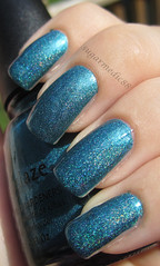 China Glaze Techno Teal (sugarmedic88) Tags: blue nail nails nailpolish holographic holo chinaglaze tronica technoteal