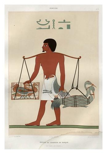 007-Retorno de un cazador en barca-Reni- Hacen dinastia XII-Histoire de l'art égyptien 1878- Achille Constant Théodore Émile