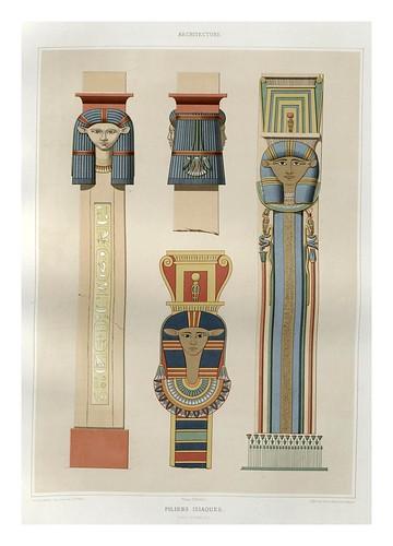 019-Pilares Isiacos-Dinastia XVIII-Histoire de l'art égyptien 1878- Achille Constant Théodore Émile