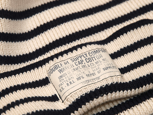 RRL / Marine Striped Beanie