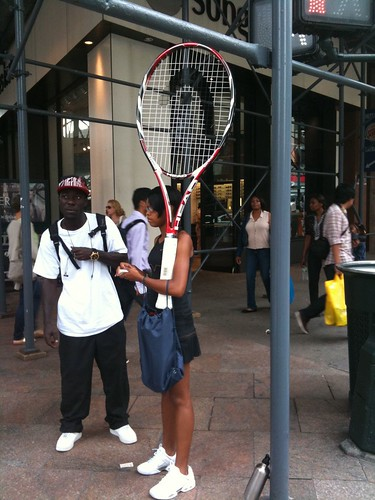Giant racket, 34th Square